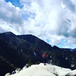 山登り中のマスター