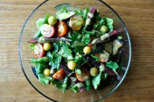 北杜市 ナイトマーケット 夏野菜のサラダ